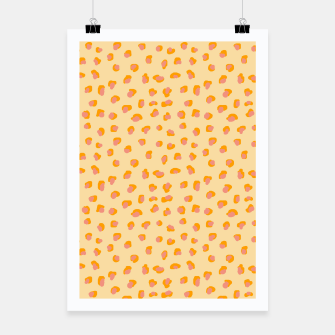 Thumbnail image of Cute saffron pink animal print  Poster, Live Heroes