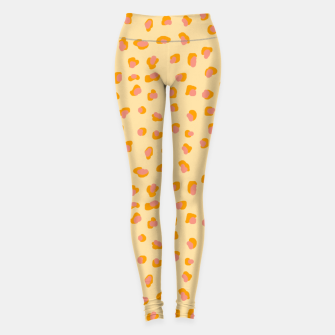 Miniatur Cute saffron pink animal print  Leggings, Live Heroes