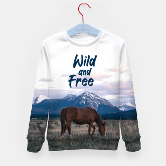 Wild and Free Kid's sweater thumbnail image