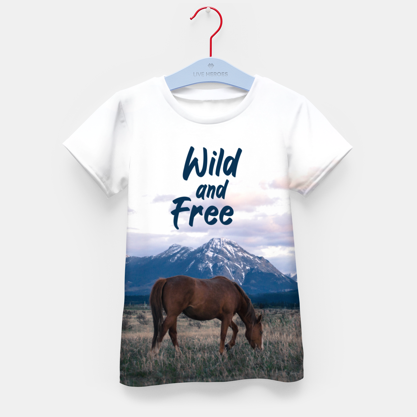 Image of Wild and Free Kid's t-shirt - Live Heroes