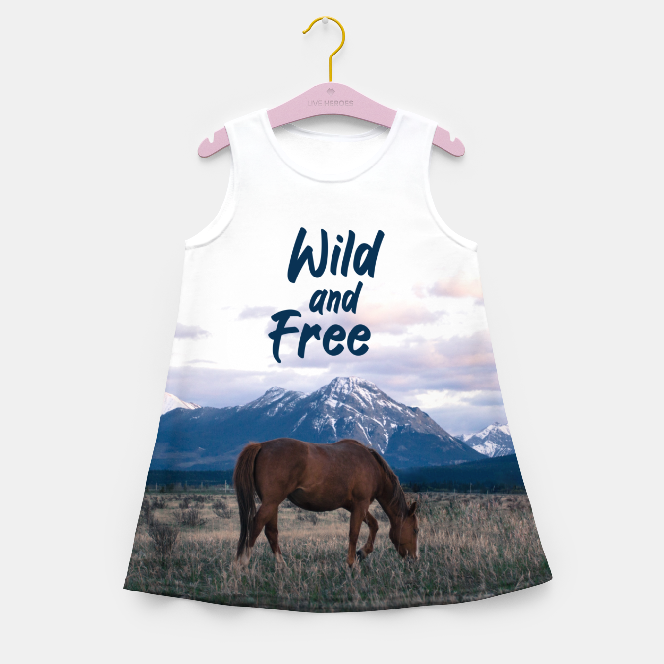 Image of Wild and Free Girl's summer dress - Live Heroes