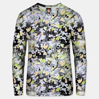 Thumbnail image of Floral abstract  black and gray, autumn Unisex sweater, Live Heroes