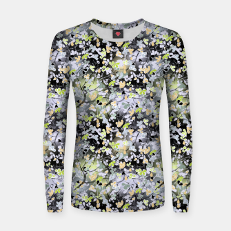 Floral abstract  black and gray, autumn Women sweater Bild der Miniatur