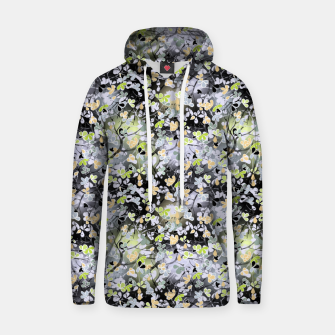 Floral abstract  black and gray, autumn Hoodie Bild der Miniatur