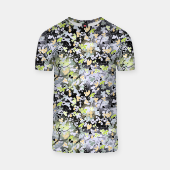 Floral abstract  black and gray, autumn T-shirt Bild der Miniatur