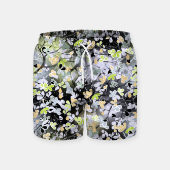 Floral abstract  black and gray, autumn Swim Shorts Bild der Miniatur