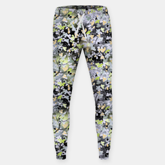 Floral abstract  black and gray, autumn Sweatpants Bild der Miniatur