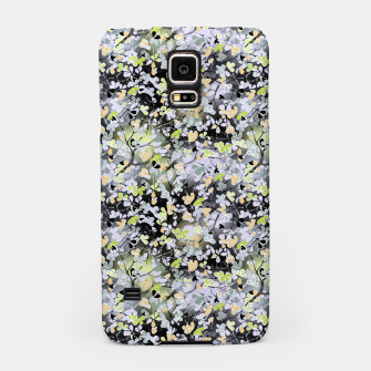 Floral abstract  black and gray, autumn Samsung Case Bild der Miniatur