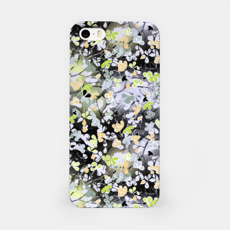 Floral abstract  black and gray, autumn iPhone Case Bild der Miniatur