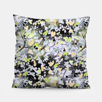 Floral abstract  black and gray, autumn Pillow Bild der Miniatur