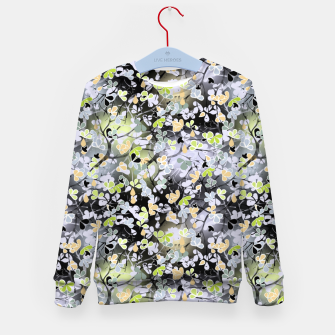 Floral abstract  black and gray, autumn Kid's sweater Bild der Miniatur