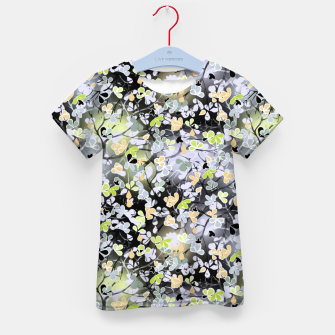 Floral abstract  black and gray, autumn Kid's t-shirt Bild der Miniatur