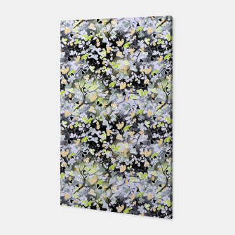 Floral abstract  black and gray, autumn Canvas Bild der Miniatur