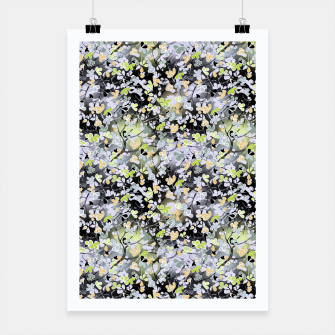 Thumbnail image of Floral abstract  black and gray, autumn Poster, Live Heroes