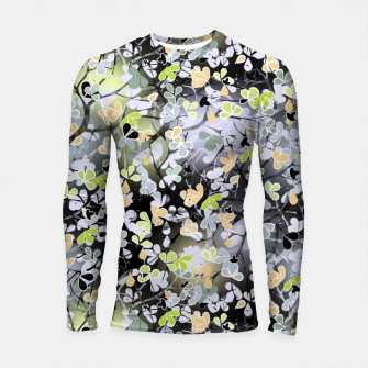 Thumbnail image of Floral abstract  black and gray, autumn Longsleeve rashguard , Live Heroes