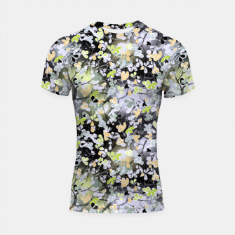 Thumbnail image of Floral abstract  black and gray, autumn Shortsleeve rashguard, Live Heroes