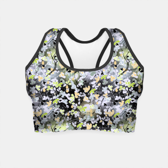 Thumbnail image of Floral abstract  black and gray, autumn Crop Top, Live Heroes