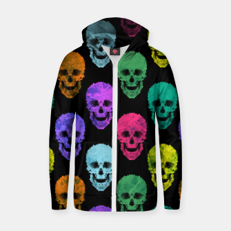 Thumbnail image of Abstract gothic style Zip up hoodie, Live Heroes