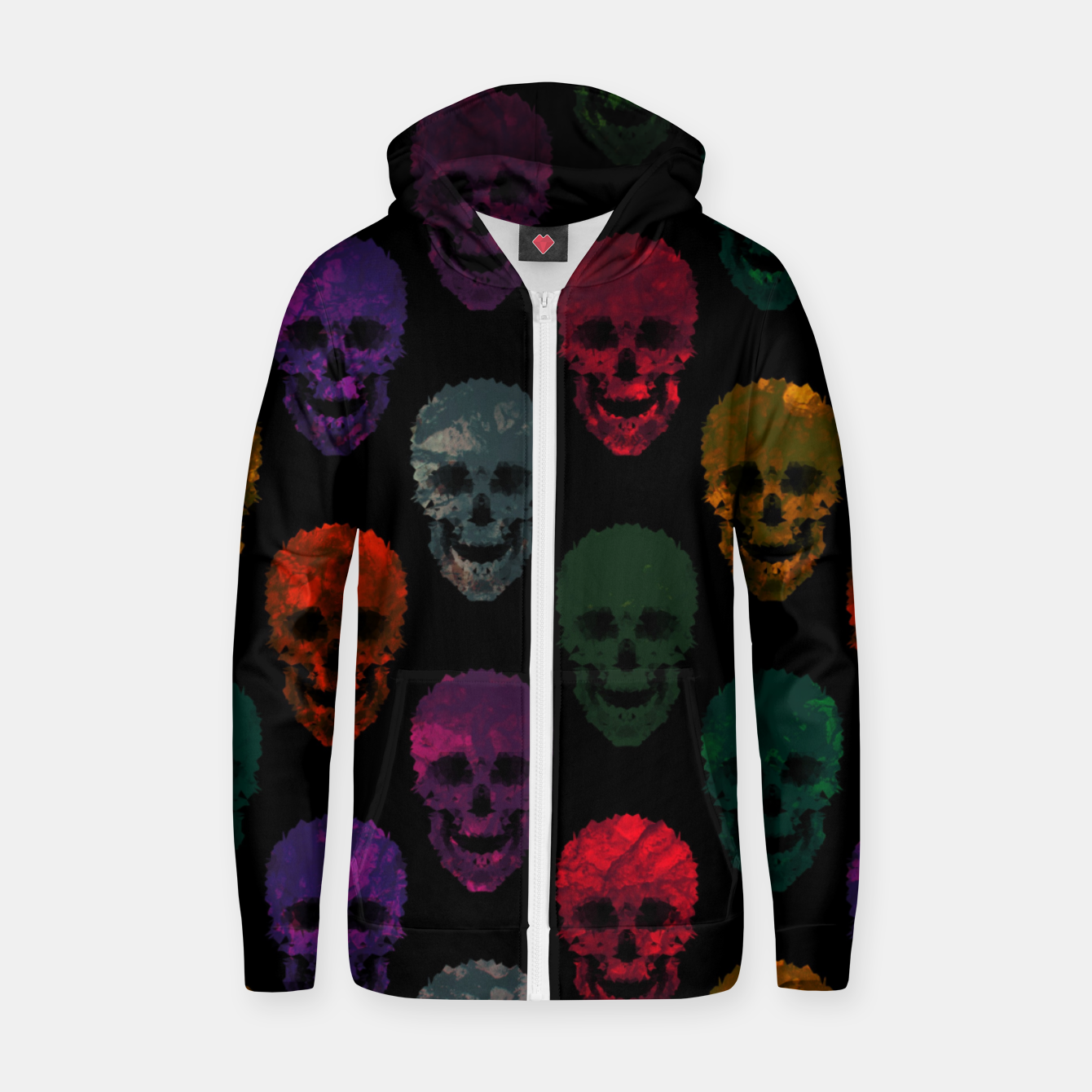 Foto Abstract gothic style Zip up hoodie - Live Heroes