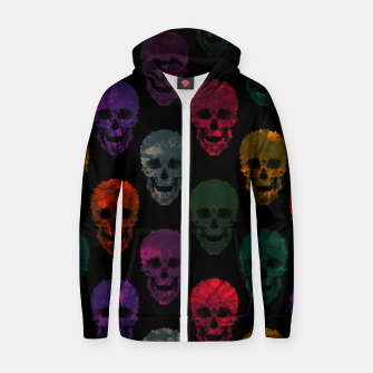 Abstract gothic style Zip up hoodie Bild der Miniatur