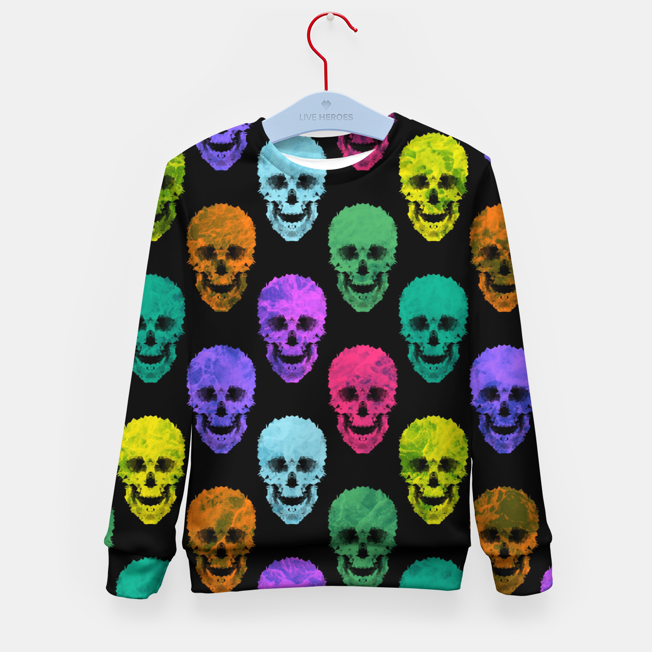 Image of Abstract gothic style Kid's sweater - Live Heroes
