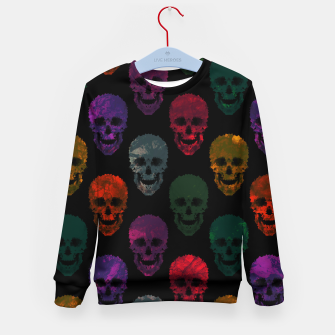 Thumbnail image of Abstract gothic style Kid's sweater, Live Heroes