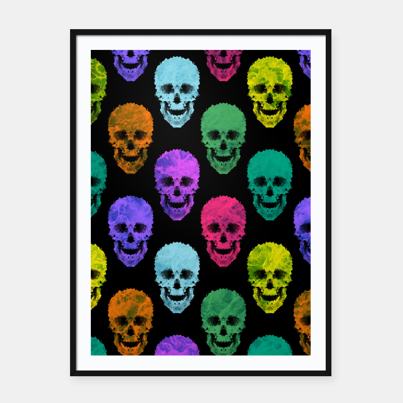 Image of Abstract gothic style Framed poster - Live Heroes
