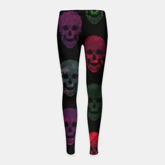 Thumbnail image of Abstract gothic style Girl's leggings, Live Heroes