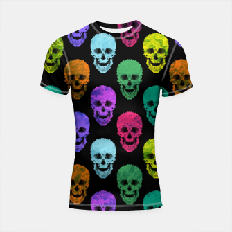 Thumbnail image of Abstract gothic style Shortsleeve rashguard, Live Heroes