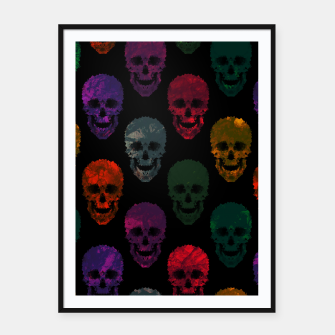 Thumbnail image of Abstract gothic style Framed poster, Live Heroes