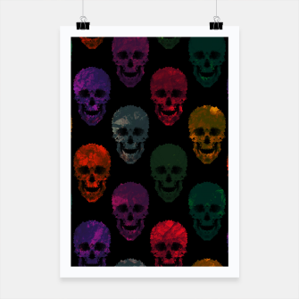 Thumbnail image of Abstract gothic style Poster, Live Heroes