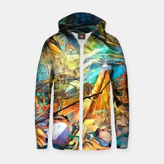 Thumbnail image of Deep Rainforest Zip up hoodie, Live Heroes