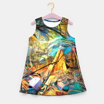 Thumbnail image of Deep Rainforest Girl's summer dress, Live Heroes