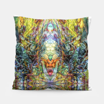 Thumbnail image of Tribal Rainbow Pillow, Live Heroes