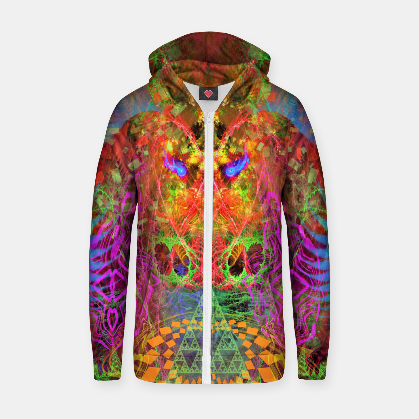 Image of Portal of A Fractured Mind Zip up hoodie - Live Heroes