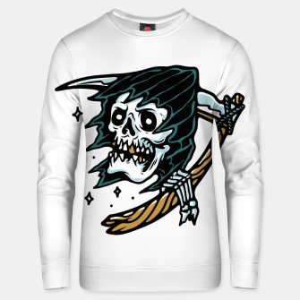 Thumbnail image of Grim Reaper Tattoo Unisex sweater, Live Heroes