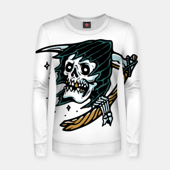 Thumbnail image of Grim Reaper Tattoo Women sweater, Live Heroes