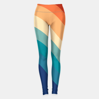 Miniatur Retro Summer Wave #1 #minimal #decor #art  Leggings, Live Heroes