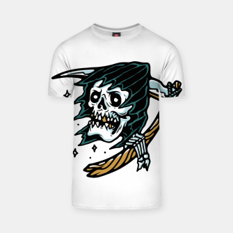Thumbnail image of Grim Reaper Tattoo T-shirt, Live Heroes