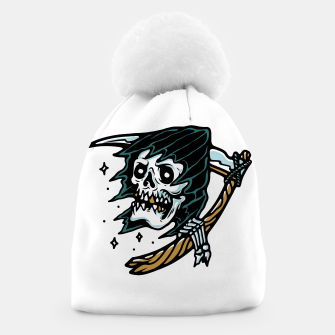 Thumbnail image of Grim Reaper Tattoo Beanie, Live Heroes