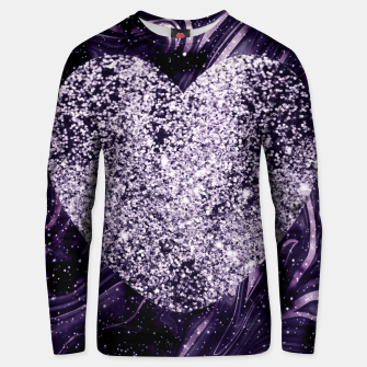Thumbnail image of Cosmic Glitter Heart Dream #1 (Faux Glitter) #love #decor #art  Unisex sweatshirt, Live Heroes