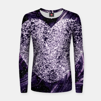 Thumbnail image of Cosmic Glitter Heart Dream #1 (Faux Glitter) #love #decor #art  Frauen sweatshirt, Live Heroes
