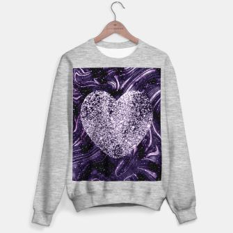 Thumbnail image of Cosmic Glitter Heart Dream #1 (Faux Glitter) #love #decor #art  Sweatshirt regulär, Live Heroes