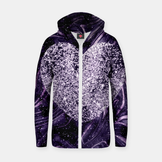 Thumbnail image of Cosmic Glitter Heart Dream #1 (Faux Glitter) #love #decor #art  Reißverschluss kapuzenpullover, Live Heroes