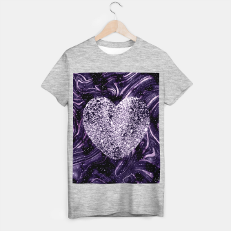 Thumbnail image of Cosmic Glitter Heart Dream #1 (Faux Glitter) #love #decor #art  T-Shirt regulär, Live Heroes