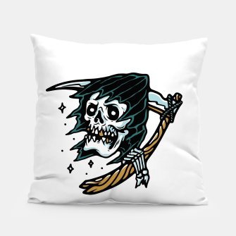 Thumbnail image of Grim Reaper Tattoo Pillow, Live Heroes