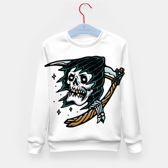 Thumbnail image of Grim Reaper Tattoo Kid's sweater, Live Heroes