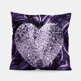 Thumbnail image of Cosmic Glitter Heart Dream #1 (Faux Glitter) #love #decor #art  Kissen, Live Heroes