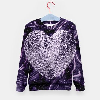 Thumbnail image of Cosmic Glitter Heart Dream #1 (Faux Glitter) #love #decor #art  Kindersweatshirt, Live Heroes