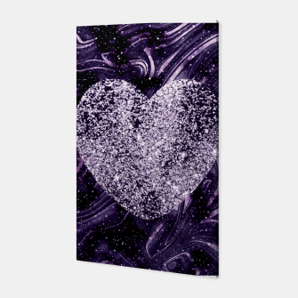Thumbnail image of Cosmic Glitter Heart Dream #1 (Faux Glitter) #love #decor #art  Canvas, Live Heroes